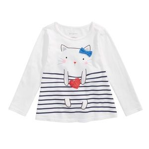 NWT First Impressions Long Sleeve Cat Top 12mo